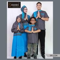 Baju Couple Casual Muslim,Baju Muslim Keluarga Bahan Katun, samara
