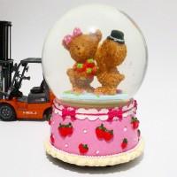 Jual Snowball Music Box -Couple Strawberry Murah