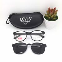free lensa minus - frame kacamata pria levis clip on polarized 7003