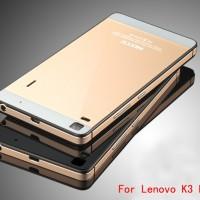 ALUMINIUM CASE Lenovo A7000 K3 note tempered glass back cover hard hp