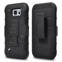 Future Armor Bumper Active w/ Holster Clip Dual Layer Case Samsung S6