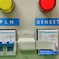 panel interlock chint 2p switch handle hendel ohm saklar pln - genset