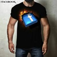 grosir kaos lengan pendek t shirt 3d facebook distro murah