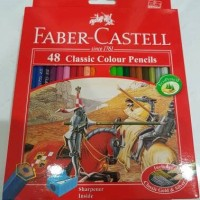 Faber Castell 48 Classic Colour Pencils (with sharpener)