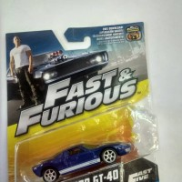 MATTEL Fast and Furious FORD GT-40