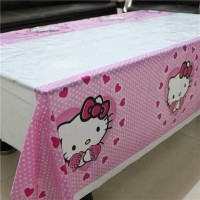 Table Cover Hallo Kitty/ Taplak Meja Plastik Hello Kitty 180 x 100 cm