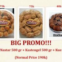 Jual PROMO! Only 150k (Nastar 500gr + Kastengel 500gr = Kue Kacang 250gr) Murah