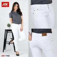 Jual JSK 1102 (Size 27-30) - White Skinny Softjeans / Celana Putih Pensil Murah