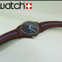 JAM TANGAN WANITA SWATCH QUARTZ RUBBER SEMI SUPER