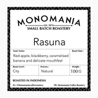 Rasuna Natural Filter Coffee V60, Aeropress, Chemex, manual brew kopi
