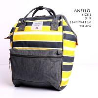 Ransel Anello Rucksack Canvas Stripe Large KUNING - ABU ABU Semprem 01