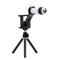 Jual Lensa Tele zoom Tele 12x holder lipat For Mobile phone Tab free tripod Murah