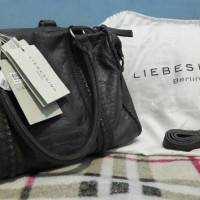 Liebeskind Felize Stud Dark Grey Satchel Leather