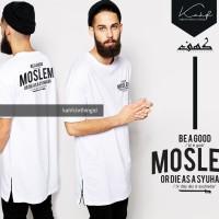 Kaos Longline Qurta Tshirt - Sablon MUSLIM - Baju Muslim Pria