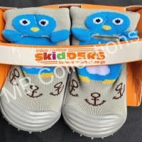 Skidder Sepatu Baby Motif 3D Pinguin Abu - Abu Uk 20