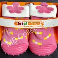 Skidder Sepatu Baby Motif 3D Bunga Pink Uk 20