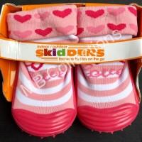 Skidder Sepatu Baby Motif 3D Love Merah Uk 20