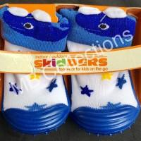 Skidder Sepatu Baby Motif 3D Paus Biru Uk 22