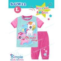 Jual SL1721 - Baju Setelan Piyama Tidur Anak Cewek Murah - MY LITTLE PONY Murah