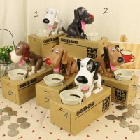 Jual Robot Dog Money Bank/Celengan karakter anjing pemakan koin/Choken Bako Murah
