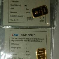 Jual LM Antam 5 gram (Logam Mulia 5 gr) LM Emas Goldbar 5gr Emas tahun 2017 Murah
