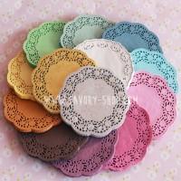 Murah! Paper Lace Doilies 5.5 Inch Warna / Kertas Alas Renda