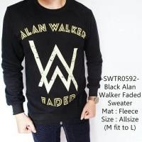 Sweater Cowok Modis Casual Fashion Model Black Alan Walker Faded - 529