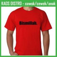 Kaos Tulisan Bismillah KD02 Oblong Distro
