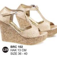 Harga brc102 wedges heels sandal pesta cewek perempuan | Hargalu.com
