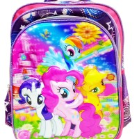 Hot Sale! Tas Ransel Anak Sekolah SD My Little Pony 5D Timbul