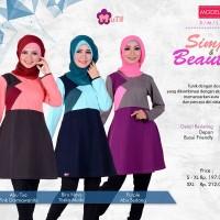 Atasan Muslimah Simply & Beauty-Mutif-115-BLouse Kantor/Kuliah/Formal