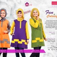 Atasan Muslimah Fun & Colourful - Mutif-105 -BLouse Formal/Semi Formal