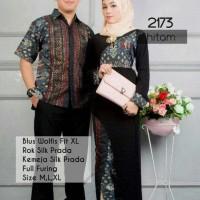 kebaya batik couple muslim hitam model terbaru,batik pasangan modern