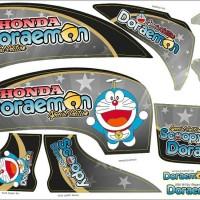 harga Stiker Scoopy Fi Doraemon Fullset Body Merah/putih/hitam Tokopedia.com
