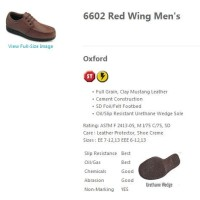 Red Wing 6602 Safety Shoes Men's Brown