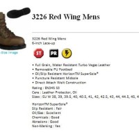 Red Wing 3226 Safety Shoes Men's Brown with new rubber outsole