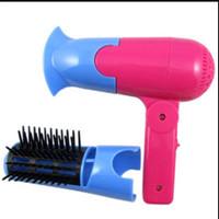 Jual 2 in 1 Mini electric Hair dryer pengering rambut & sisir murah BHR015 Murah