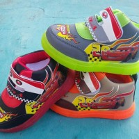 harga Sepatu Lampu Nyala Anak Baby Mcqueen Light Shoes Cars Mc Queen Led Tokopedia.com