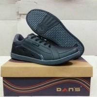 Sepatu Sneakers Kets Anak Sekolah full hitam Original Dans