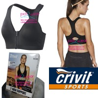 Jual Sport Bra Running / Zumba / Fitness Black Zipper High Impact Murah