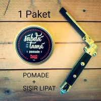 Jual POMADE (sabdatama) + SISIR LIPAT (switchblade comb) Murah