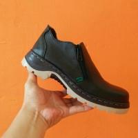 sepatu boots kickers safety ujung besi sleting pria lapangan proyek