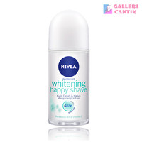 NIVEA Whitening Happy Shave Roll-On 50ml Mencerahkan