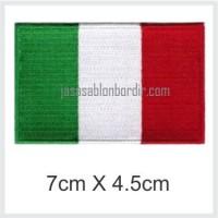 Emblem Bordir Bendera Italia