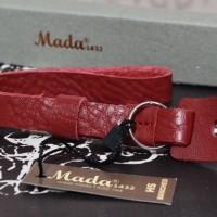 NEW - Handstrap MADA 1432 Leather HS Banched-Maroon-Gudang Kamera Mlg