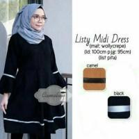 LISTY MIDI DRESS - baju kerja wanita model terbaru termurah - tunik