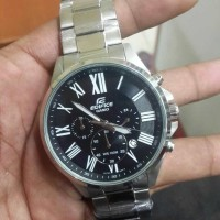 Casio Edifice EF-500 Silver Black Dial