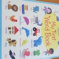 Usborne My first word book buku import anak