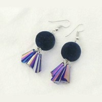 Jual Anting tassel pom glass Murah