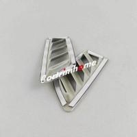 ABS Inner Upper Air Vent Cover Trim 2pcs Renault Koleos 2017